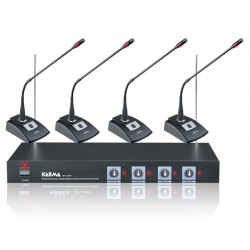 Kit per conferenze wireless 4 mic