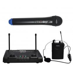 Doppio radiomicrofono VHF palmare + archettio