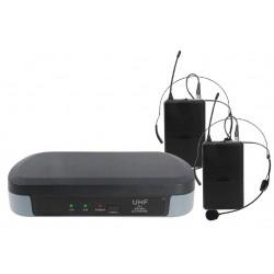 Doppio Radiomicrofono ad archetto UHF