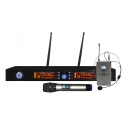 Doppio Radiomicrofono Palmare e archetto UHF